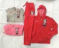 Велюровый спортивный костюм для девочек Minnie 98/104-134 p.p.