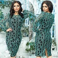 Элегантное вечернее платье с гипюром. Модель 12316. Батальные размеры 50-56.