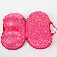 Органайзер для бюстгальтерів рожевий з сердечками / Органайзер сумочка для бюстгалтеров розовый в сердечки