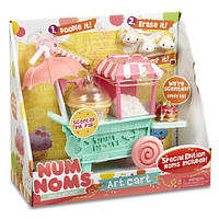 Игровой набор Num Noms S2 - Арт-тележка (тележка, 2 нома, 3 мини-нома, аксессуары)
