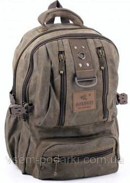 Джинсовый рюкзак GOLD BE! 1304 khaki (средний) - интернет-магазин