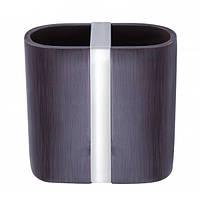 Подставка (стакан) для зубных щеток венге/хром