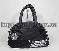 Черная спортивная сумка с белым логотипом