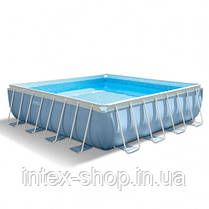 Каркасний басейн Intex 26798, ( 488х488х122 см) (Картріджний фільтр 5678 л/год, тент, підстилка, сходи), фото 3