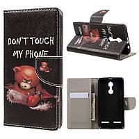 Чехол книжка TPU Wallet Printing для Lenovo K6 K33a48 Do Not Touch My Phone