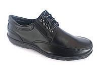 Туфли черный на шнурках мужские Pilot - T-02