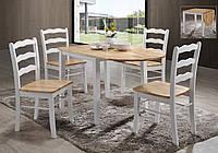 Комплект обеденный Сканди массив гевеи (стол + 4 стула)