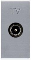 ABB Zenit Розетка ТВ идивидуальная (1 модуль) серебро