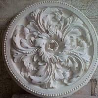 Гипсовая декоративная розетка, лепнина