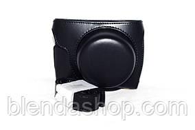 Захисний футляр - чохол для фотоапаратів Panasonic Lumix DMC GF7, DMC GF8 - колір чорний