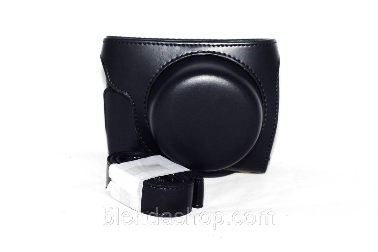 Защитный футляр - чехол для фотоаппаратов Panasonic Lumix DMC GF7, DMC GF8 - цвет черный