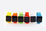 Часы браслет, спортивные часы на силиконовом ремешке 003 с красной подсветкой