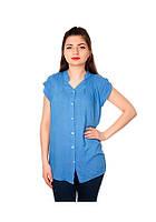 Рубашка женская голубая