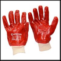 Перчатки Intertool мбс 10 12пар/уп красные