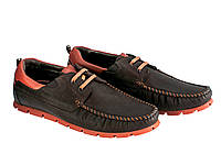 Модные мужские мокасины со шнурком