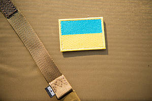 Шеврон флаг Украины 80х50мм