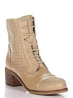 Ботинки Just-r (Justor) бежевые,  с заклепками , фото 1