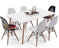 Прямоугольный обеденный стол TM-36, белый 120х80х76