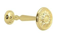 Розетта-держатель для штор и занавес Флор золото