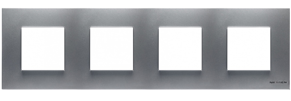 ABB Zenit Рамка четверная серебро