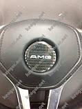 Эмблема в руль карбоновая на Mercedes G-Сlass W463, фото 6