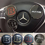 Эмблема в руль карбоновая на Mercedes G-Сlass W463, фото 9