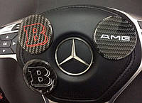 Эмблема в руль карбоновая на Mercedes G-Сlass W463, фото 1