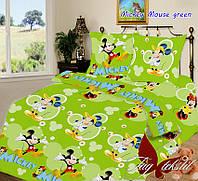 1.5-спальное белье для детей Mickey Mouse green
