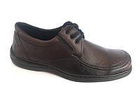 Туфли коричневый на резинках мужские ANKOR-2