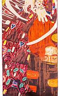 """Неординарный женский шелковый шарф 42*156 см ETERNO репродукция картины Густава Климта """"Юдифь"""" ES1501-13"""