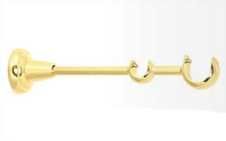 Держатель двойной открытый для карниза 25/16 мм золото