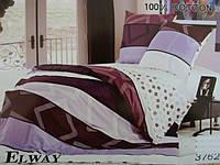 Сатиновое постельное белье евро ELWAY 3762