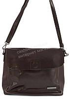 Небольшая прочная элегантная женская наплечная кожаная сумка FORSTMANN art. 98403 коричневая