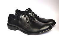 Туфли мужские кожаные дерби черные Rosso Avangard Greck Black Pelle