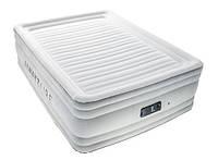 Надувная велюровая кровать Bestway (67570) 206-156-56 см,с электронасосом