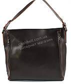Оригинальная прочная элегантная кожаная женская сумка SOLANA art. 858 коричневая