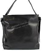 Оригинальная прочная элегантная кожаная женская сумка SOLANA art. 135 черная