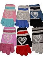 Перчатки Ангора детские для девочек