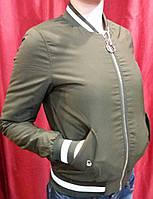 Женская ветровка бомбер весна хит продаж цвет хаки