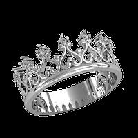 Серебряный перстень корона  925 пробы