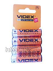 Батарейка солевая Videx AA 1.5V Super Heavy Duty R6P упаковка - 60шт.