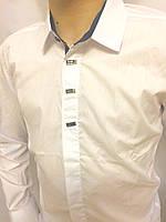 Белая нарядная рубашка для подростка, фото 1