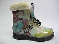Резиновые ботинки с подкладкой