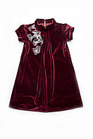 Платье нарядное бархат бордо