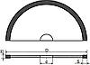 Алмазный круг отрезной (Тип 1A1R) D-100мм*H-0.8мм*S-5мм