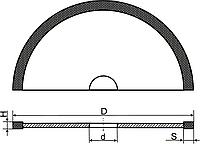 Алмазный круг отрезной (Тип 1A1R) D-75мм*H-0.8мм*S-5мм
