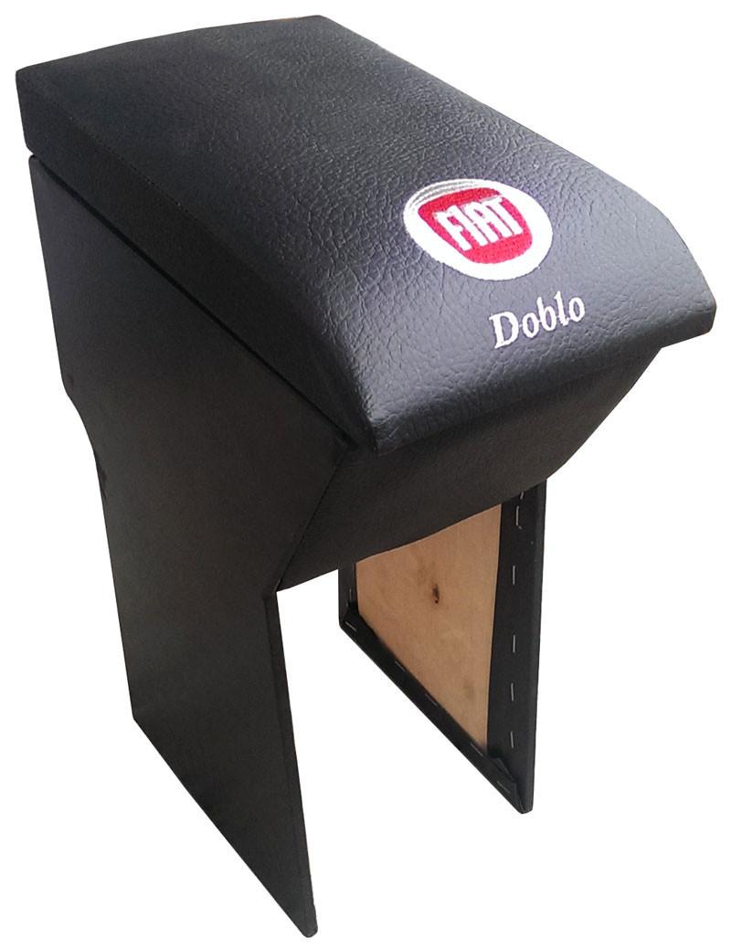Подлокотник Fiat Doblo (Фиат Добло) черный с вышивкой