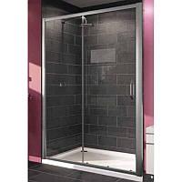 HUPPE X1 дверь односекционная раздвижная для ниши и боковой стенки 120см (профиль гл хром, стекло прозрачное)