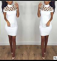 Короткое белое платье на вечер