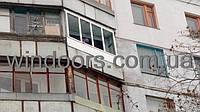 Установка балконной рамы в девятиэтажке.
